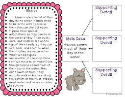 main idea mania freebie and giveaway hippo hooray for second