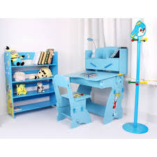 Kids Computer Desk And Chair Set by New Kids Child Study Table Desk Chair Book Shelf 4 Pc Set Blue
