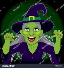 halloween scary background green old evil scary green skin witch stock vector 306875768 shutterstock