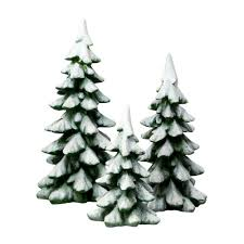 amazon com department 56 village cross product winter pines home