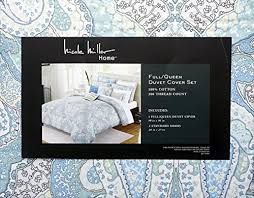 Nicole Miller Duvet Nicole Miller Bedding 3 Piece Full Queen Duvet Cover Set Green