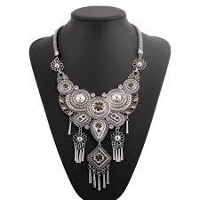 ethnic necklace vintage images Vintage tribal necklace nickel nova jpg