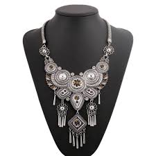chunky necklace pendants images Vintage tribal necklace nickel nova jpg