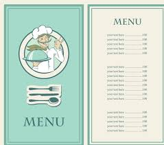 restaurant menu in vectorial format