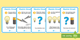 electric circuit activity sheet pack bulb electric circuit