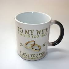 heat sensitive design color change coffee mugs to my wife mugs tea