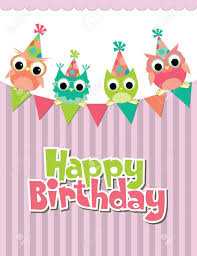 happy birthday card design vector illustraton royalty free