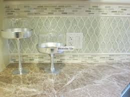 encore ceramics kitchen backsplash wave mosaic in rain color