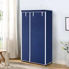 Clothes Cabinet Ikayaa Us Uk Fr Stock Wardrobe Fabric Closet Wardrobe Cabinet Roll