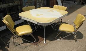 attractive vintage metal kitchen table with sets small ideas