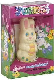 white chocolate bunny palmer white chocolate bunny hollow milk flavored 1 75 oz