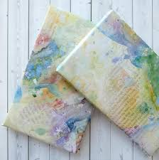 wrapping paper sheets pack of three wrapping paper sheets watercolour effect bookishly