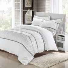 betsy white king 7 piece ruffled duvet cover bed in a bag set