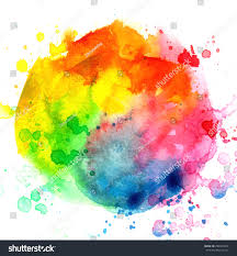 color wheel drops spray on white stock illustration 296451074