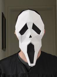diy scream mask paper pattern instant download halloween