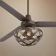 Ceiling Fan With Cage Light Ceiling Fan Cage Light Kit Design Industrial For Hdsociety Info