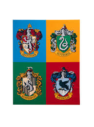harry potter house crests canvas wall art topic