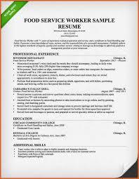 restaurant server resume resume name