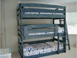 Plans For Triple Bunk Beds by Triple Loft Bunk Bed Triple Bunk Bed Design As Amazing Bed For