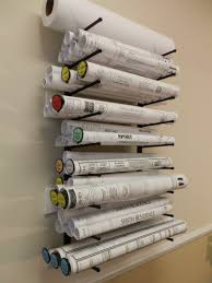 Wall Blueprints by Wall Mount Plan Racks