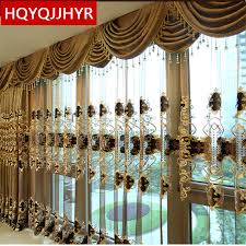 Brown Gold Curtains European Luxury King Brown Embroidered Gold Curtains For The