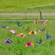 garden decor 36 pcs 8cm butterfly stakes supplies
