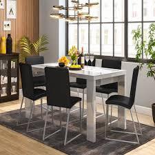 Gloss Dining Tables Kariba Delphine 6 Seater High Gloss Dining Table Set Gravity Interio