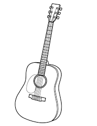 acoustic guitar coloring pages coloring