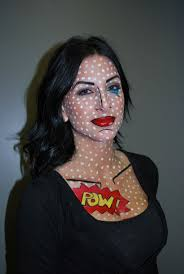 Pop Art Halloween Costume Ideas 17 Pop Art Images Costumes Pop Art Makeup
