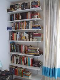 furniture elegant mid century modern shelves design with white
