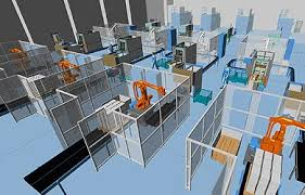 layout design industrial engineering large scale 3d factory layout created with mpds4 industrial