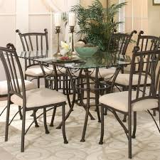 Glass Rectangular Dining Table 7 Piece Rectangular Glass Table With Chairs By Cramco Inc Wolf