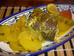 cuisiner le mulet tajine batata za3ra bil bouri tajine de pomme de terre au mulet