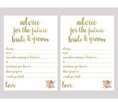 Advice Cards For The Bride This Is Not A Finished Item That Will Be Mailed To You This Is A