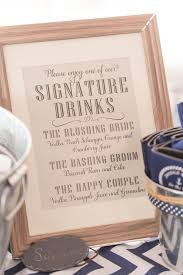 wedding signature drink name ideas best 25 signature drink signs