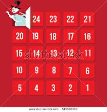 advent calendar countdown christmas advent calendar day 25 stock vector 515578300