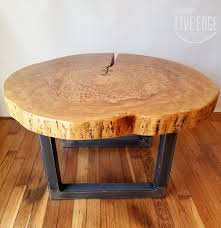 Round Living Room Table by Round Coffee Table Live Edge Industrial Tree Slice Log Rustic