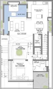 20 interior courtyard house plans duplex villa elevation