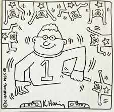 design coloring book keith haring twenty 20 lithographs held in artist designed