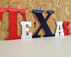 Decorative Letter Blocks For Home Texas Home Decor Etsy