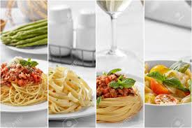 cuisine spaghetti collage portrait of food spaghetti with cheese