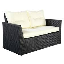 4pc rattan sofa furniture set patio cushioned seat black wicker
