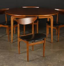 lane co mid century modern dining table and four chairs ebth