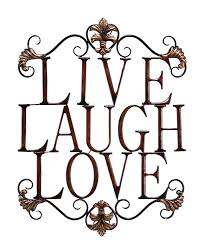 live laugh love home decor amazon com live laugh love modern abstract metal wall art home