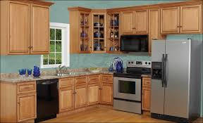 bold design maple kitchen cabinets and blue wall color best 10