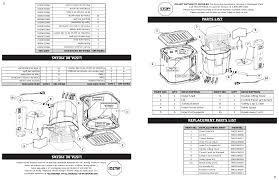 butterball xl stop alt o parts list replacement parts list masterbuilt
