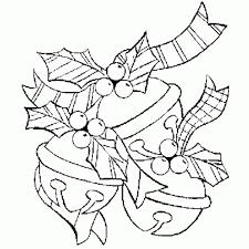 dessin de coloriage noel decoration guirlande gui noel