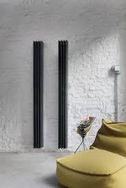 sharp black lines in interior design bisque radiators