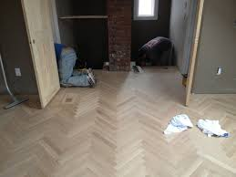 herringbone flooring traditional home york by