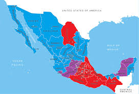 Mexican State Map by Races Of Mexico Lobertrindsay